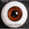 Glass Eye 16mm Shiny Brown fits MSD DOT VOLKS LUTS Lati 1/4