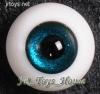 Glass Eye 12 mm Shiny Blue fits YOSD DOB VOLKS LUTS Lati 1/6